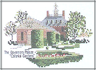 The Governors Palace Colonial Gardens Cross Stitch Kit