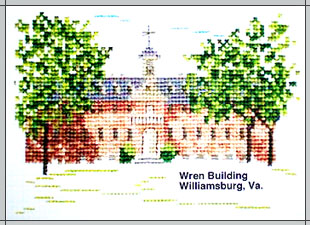 The Wren Building Cross Stitch Kit